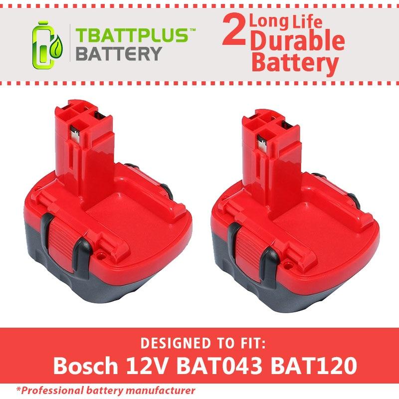 2pack 12V 2000mAh Ni-CD Battery for Bosch GSR 12 VE-2 BAT043 BAT045 BAT045 BTA120 1 pc new 14 4v 2 0ah 2000mah ni cd battery for bosch bat038 bat140 bat159 bat040 bat041 vhk15