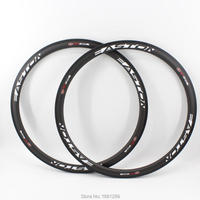 2Pcs Brand New 700C Road Bicycle 38mm Bike Wheels Matt UD Full Carbon Rim Tubular Basalt