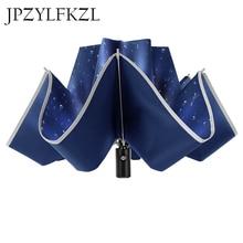 8k عاكس مظلة كبيرة Parapluie معكوس لسيارة الأعمال مظلة قابلة للطي المطر الرجال النساء التلقائي عكس المظلات سترون