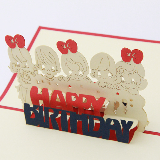 5p Lot Happy Birthday Creative Design 2015 New Hand Made Craft Post