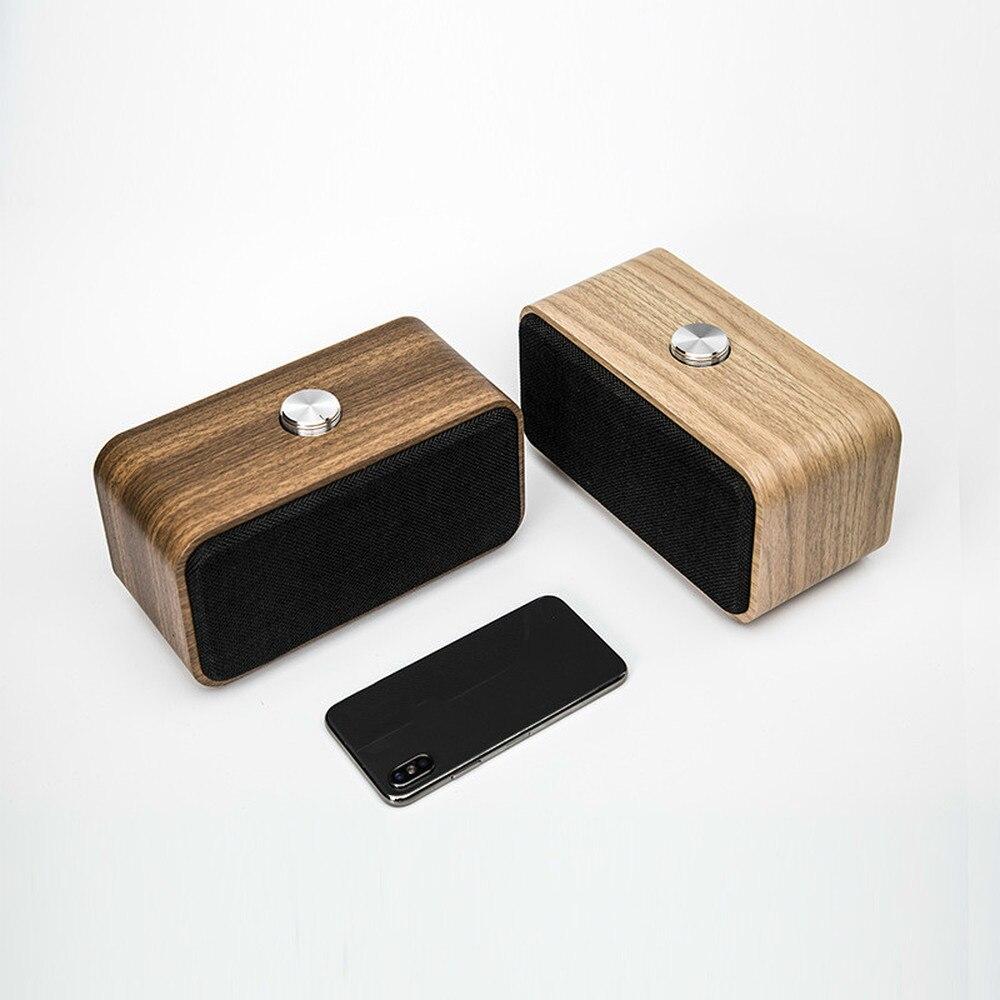 Portable bois sans fil Bluetooth haut-parleur Vintage FM Radio TF carte lourde basse haut-parleur nouvel an cadeau
