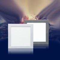 White/Grey Frame 110V 120V 220V 230V Simply Design No Flickering LED Panel Light Microwave Sensor Ceiling Mounted Lights