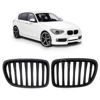 Matt Black Front Grilles For BMW 1M E81 E82 E87 LCI E88 118I 125I 130I 135I 2007-2012 Material ABS Plastic Racing Grills
