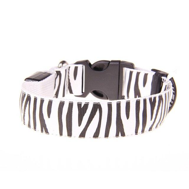 Adjuatable LED Dog Cat Pet Collar Night Safety Bright Flashing Necklace Hot 0409