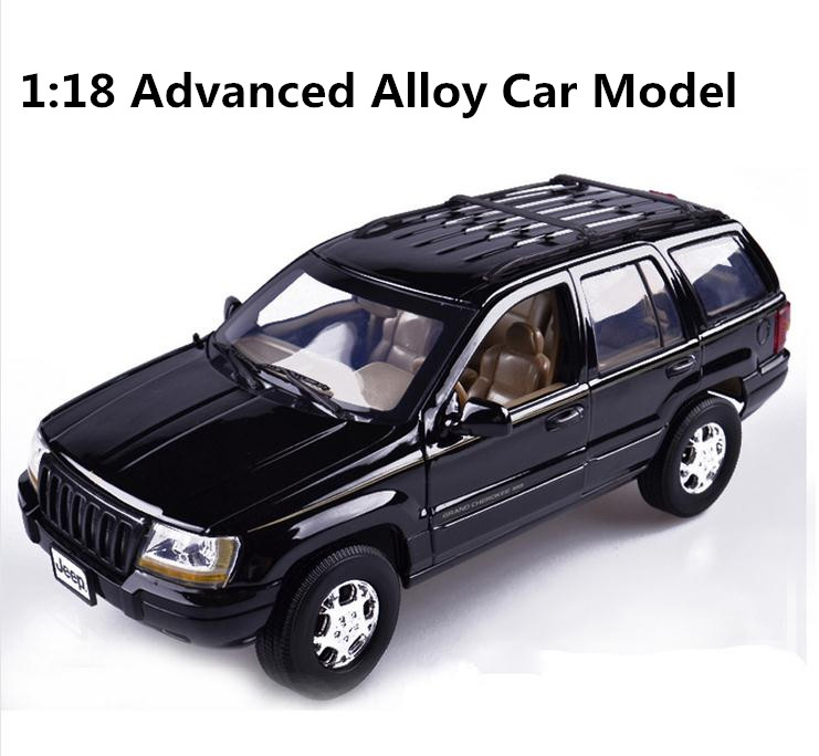 1:18 advanced alloy car model, high simulation Cherokee, metal castings, toy vehicles, high quality collection model, wholesale high simulation 1 18 advanced alloy car model volkswagen golf gti 1983 metal castings collection toy vehicles free shipping