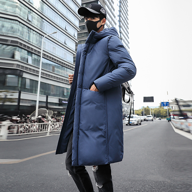new 2018 Long Thick Winter Coat Men jacket Black Solid Warm thick Hooded Jacket Male Quality Parkas plus size long Jacket 5XL in Parkas from Men 39 s Clothing