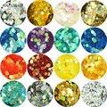 1 box 2mm Laser Nail Sequins Hexagon Nail Paillettes Hologram Nail Glitter Sheets Tips Decoration Nail Docorations