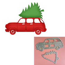 Adv-one Christmas Car Tree Metal Cutting Dies Stencil for DIY Scrapbooking Album Paper Card Decor Craft Embossing Die New 2018(China)