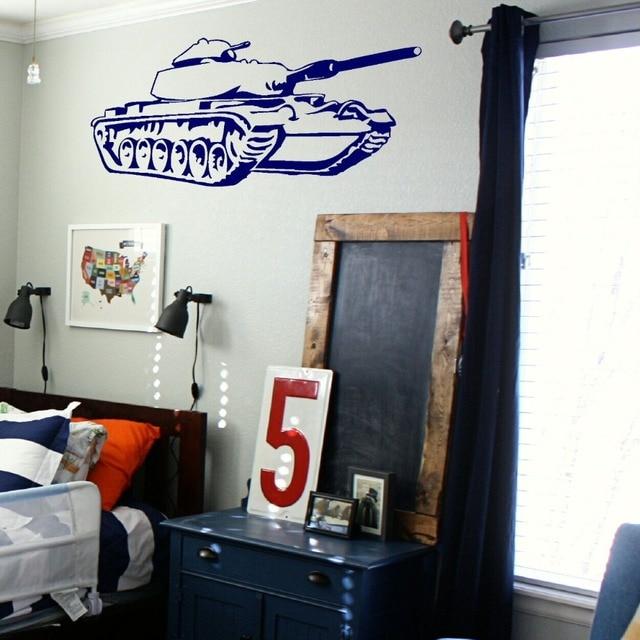 militaire tank muursticker jongens slaapkamer decoratie muur papier militaire armen fans kamer decoratieve jongens muurstickers d