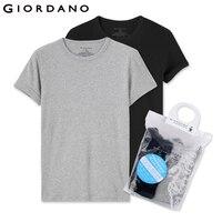 Giordano Men Essentials Solid Undershirt Basic T Shirt Male Short Sleeve O Neck Tops For Men