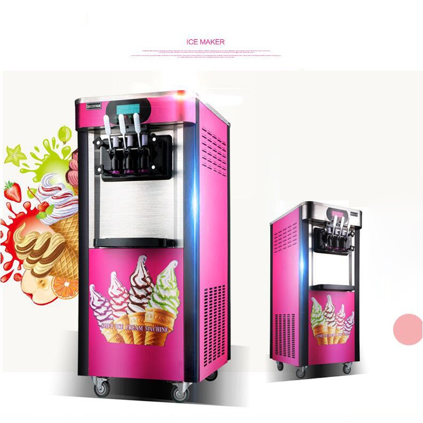 808be9e633028 1 ADET Ticari Yumuşak Dondurma Makinesi 2000 W/220 V dondurma yapma  makinesi 20L/H 3 Tatlar Yoğurt dondurma Makinesi
