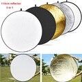 Светильник dow 43 дюйма/110 см 5-в-1 Портативная Складная круглая студийная фотография Складная фотовспышка с несколькими дисками