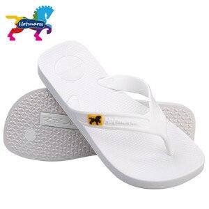 Image 5 - Hotmarzz 男性フリップは、ビーチフラットサンダルデザイナースリッパ夏の靴のファッションスライドゴム下駄 zapatos hombre