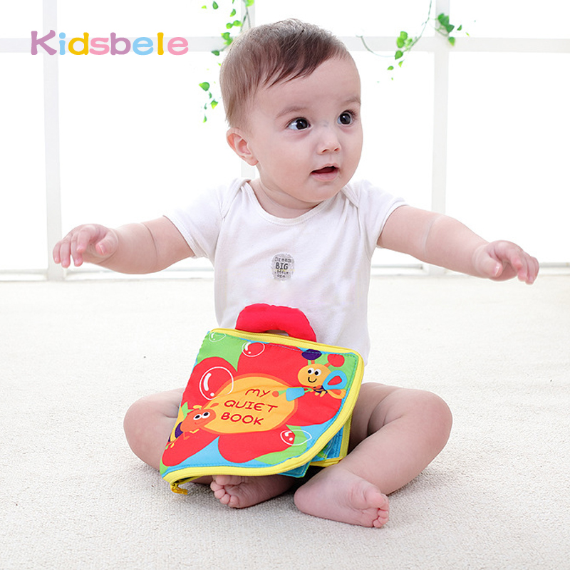 Baby Toys Infant Early Cognitive Development My Quiet Book Baby Cloth Books Educational Unfolding Activity Books new stereo flowers baby toys hot new infant kids early development cloth books learning education toys creative gifts books