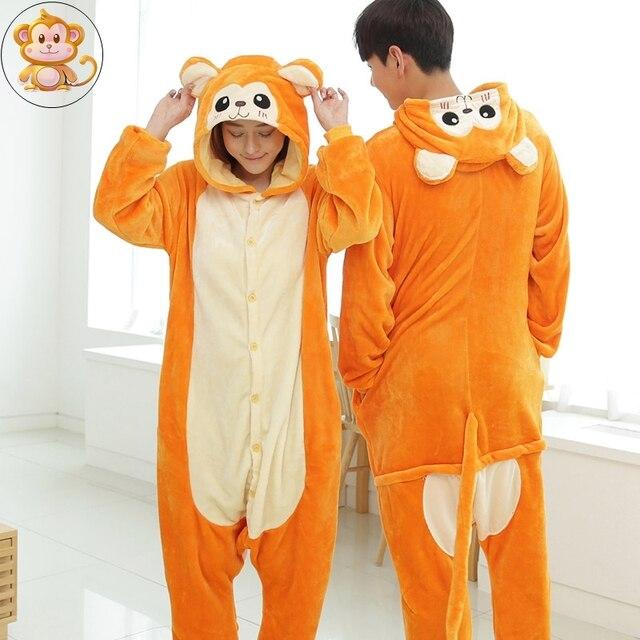 Super carino d0534 a0ea9 US $40.0 |Lemur Scimmia Del Fumetto Homewear Animali Pajamas Sleepwear  Onesies Per Adulti Pigiama Abbigliamento Per Le Donne Uomini Coppie Casa  delle ...