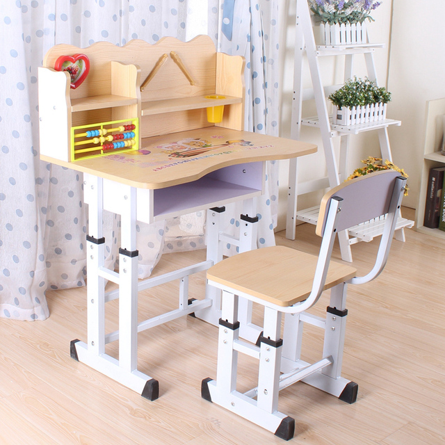 Bon Children Lift Children Study Table Desk Pupils With Ultra Practical Book  Holder Abacus Desks And