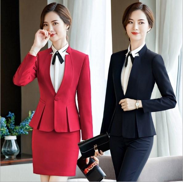 e7509ebac7c9 Donna Ufficio Formali Suit Donne Abiti Femminile Per Di Vestiti Size pant  Pezzi Skirt Con 2 ...
