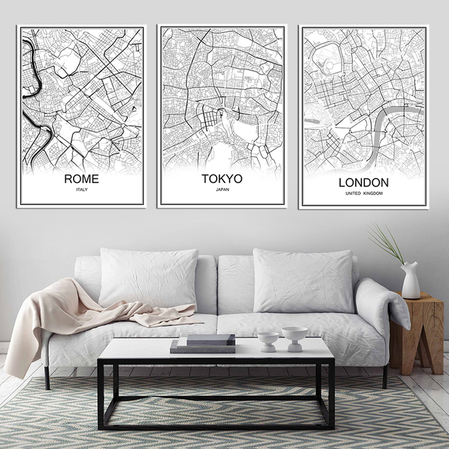 Map Of France Poster.Us 1 99 Retro Paris France City Map Kraft Paper Poster Vintage Living Room Wall Art Crafts Sticker Bar Cafe Design Free Ship 53x38cm In Wall