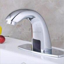 Darmowa Wysyłka Łazienka Ręce Automatyczne Dotykowy Bezpłatne Czujnik Indukcyjny elektryczne Woda Z Kranu Kran oszczędzania wody bateria moc ZR6101
