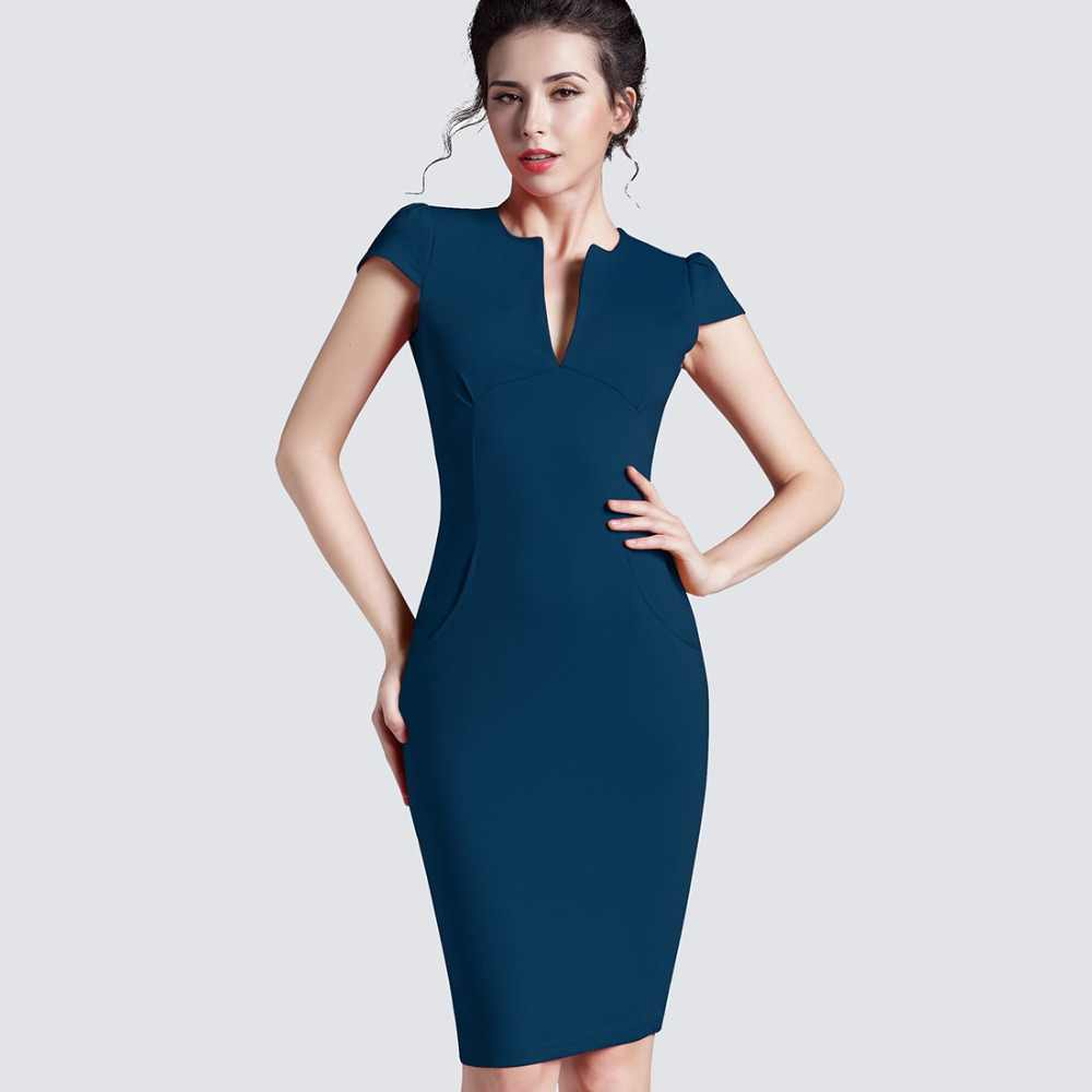 68f69e2d932 ... Spring Sexy red black Deep V bodycon bandage Business work office Party  Pencil sheath vintage women ...