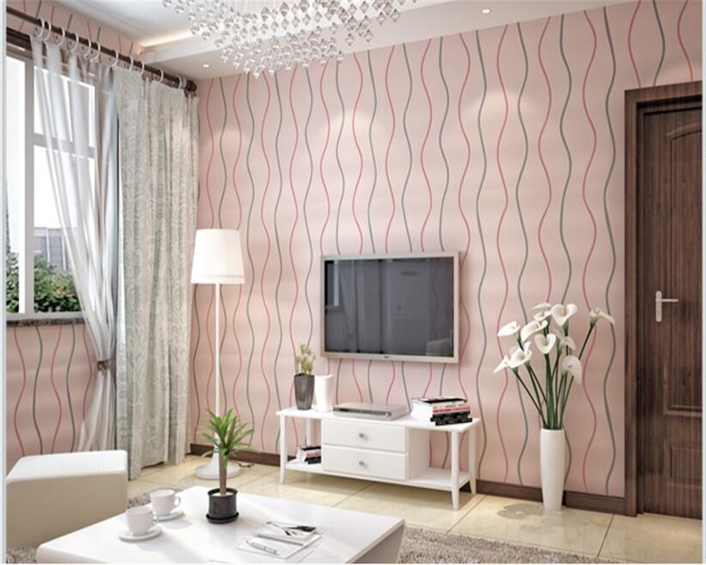 beibehang Modern simple striped nonwoven water ripple curve wall paper TV sofa bedroom background papel de parede 3d wallpaper beibehang classic fashion simple striped living room papel de parede wallpaper background wall full flocking nonwoven wallpaper