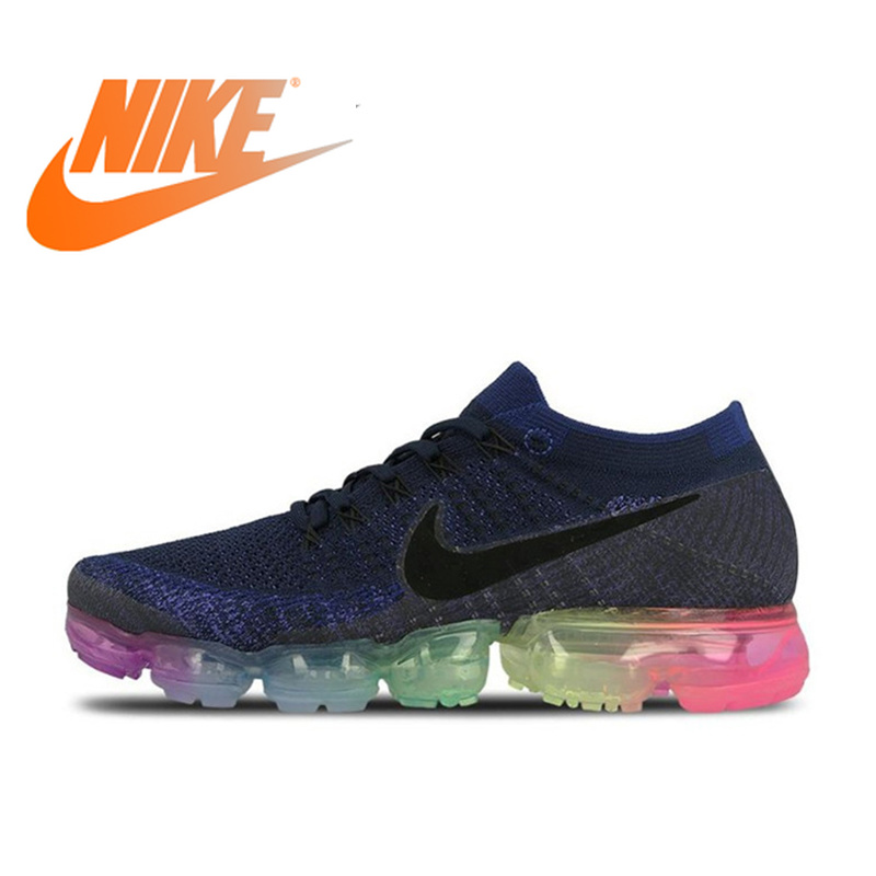 642c04ac00 Original Nike Air VaporMax Be True Flyknit Men's Running Shoes Sneakers  Sports New Arrival Official Outdoor Rainbow Breathable in Pakistan