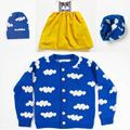 Ins hot-selling autumn cardigan bobo choese clouds male children sweater