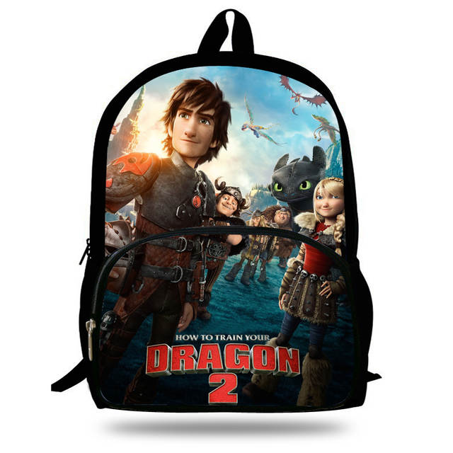 465baadd46e1 placeholder 16-inch Mochilas Escolares Infantis Kids Backpack How to Train  Your Dragon Bag Toothless Hiccup