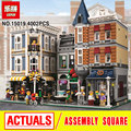 MOC LEPIN 15019 new 4002pcs Assembly Square Creator City Series Model Building Kits  blocks Bricks Toy boy gift Compatible 10255