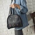 2017 Primavera de Couro PU Sacola Mulheres Trapézio Sacos de Bolsas de Grife de Moda Senhoras De Alta Qualidade Sacos Crossbody Do Vintage 845