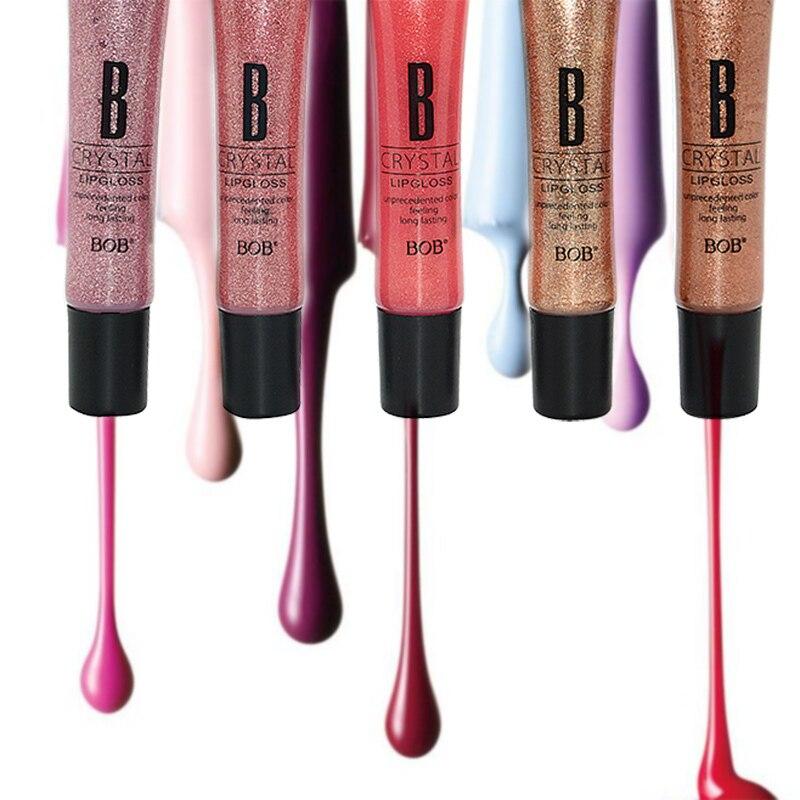 16 Colors Brand BOB Diamond Sand Gold Liquid Lipsticks Nude Lip Gloss Makeup Batom Matte Lipstick Moisturizer Nutritious Lips