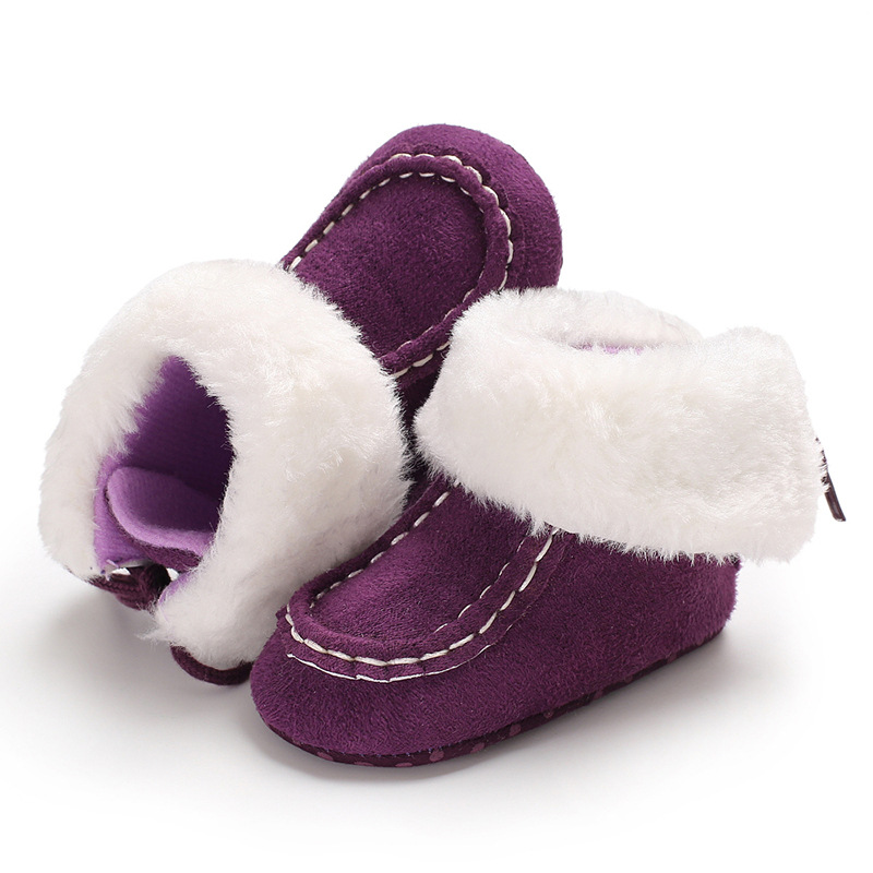 2019 Winter Sweet Newborn Baby Girls Princess Winter Boots First Walkers Soft Soled Infant Toddler Kids Girl Footwear Shoes in First Walkers from Mother Kids