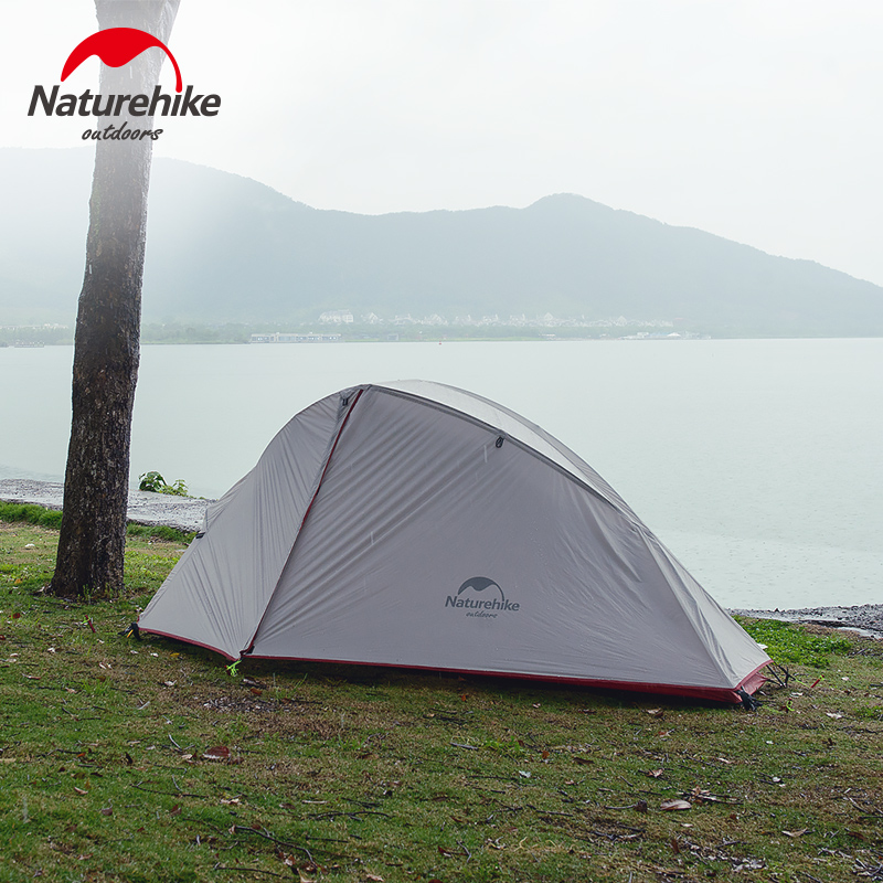 Naturehike 1-2 Person 20D Silicone Tent ultralight Outdoor Double Layer Tent Camping Waterproof 210T Tent outdoor camping hiking automatic camping tent 4person double layer family tent sun shelter gazebo beach tent awning tourist tent