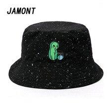 b9f4e082 Black Print Pattern Bucket Hat For Women Men Couple Spring Summer Fisherman  Hats Caps Sunscreen Hip