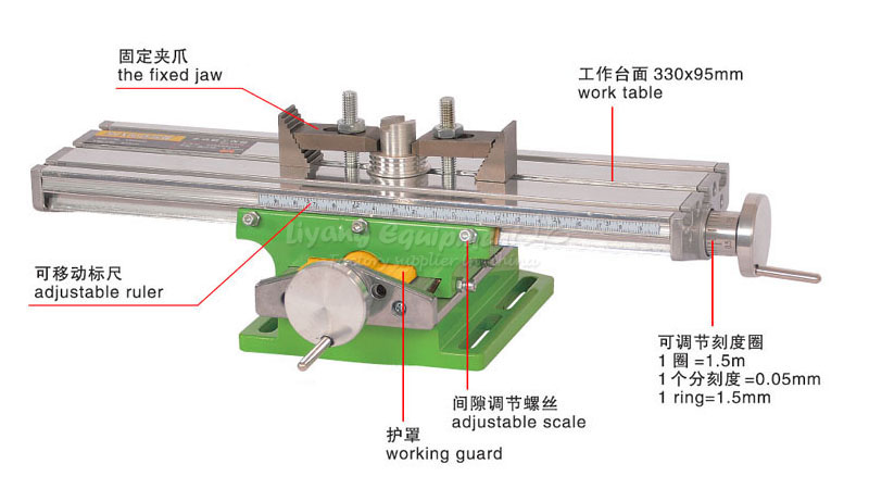LY6330 multifunction Milling Machine Bench drill Vise Fixture worktable X Y-axis adjustment Coordinate table,free tax to Russia no tax to russia miniature precision bench drill tapping tooth machine er11 cnc machinery