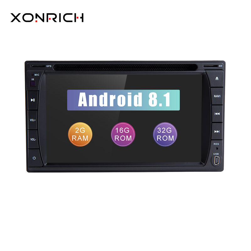 Xonrich 2 Din Android 8.1 Universal Car DVD Multimedia Player GPS Navigation Wifi Bluetooth AutoRadio Stereo USB Audio Head unit