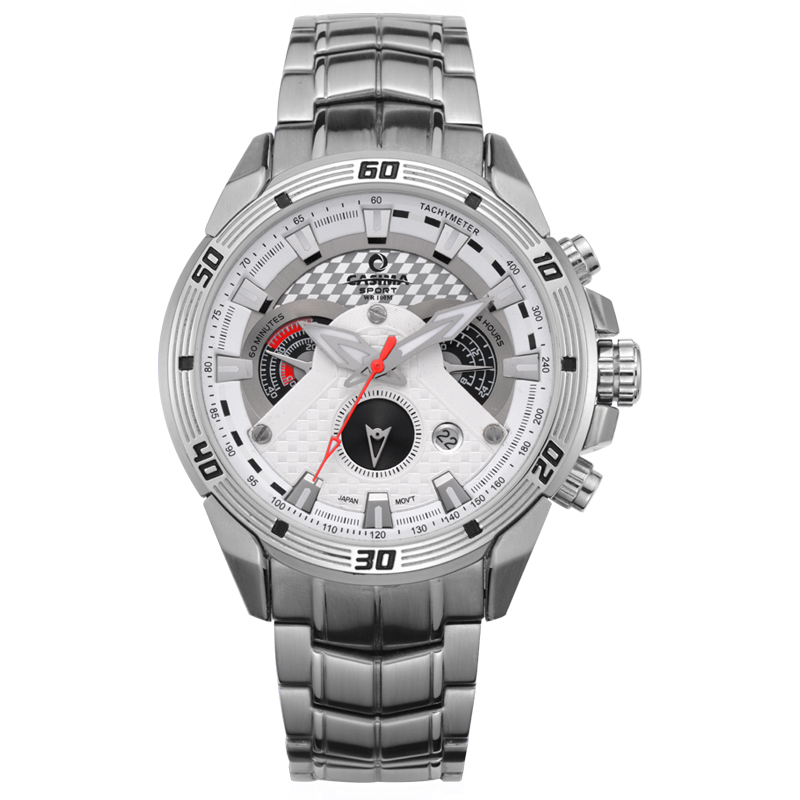 CASIMA cool sport chronograph date luminous military men watch with stainless steel watchband waterproof 8201 все цены
