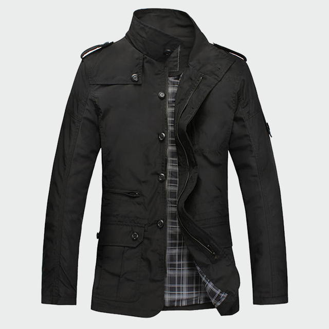 Fashion Thin Men's Jackets Hot Sell Casual Wear Korean Comfort Windbreaker Autumn Overcoat Necessary Spring Men Coat M-5XL ML091 3