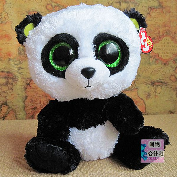 Free Shipping Lovely TY Collection White BAMBOO Panda Plush Toy Small  Charms Stuffed Animal KeyChain Plush Doll Toys fc7fe0f08e9