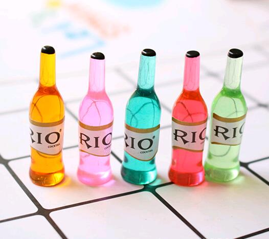 6pcs/lot Mini Drink Dollhouse Miniature Drink Play Food Doll House Kitchen For Blyth ,BJD,1/6 Doll Toy Food For Barbie