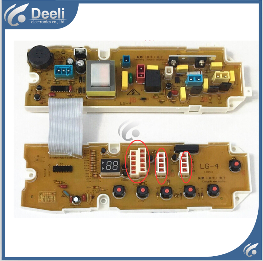 95% new for LG washing machine board XQB60-68SF XQB50-368SN XQB60-48SF XQB60-78SF Computer board 10 light original new for lg drum washing machine door hinge 42741701 1pcs