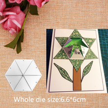 Center Pop Up Hexagon Diecuts Metal Cutting Dies for DIY Scrapbooking Embossing Decorative Crafts Paper Cards Making 6.6*6 CM brooks brothers повседневные брюки