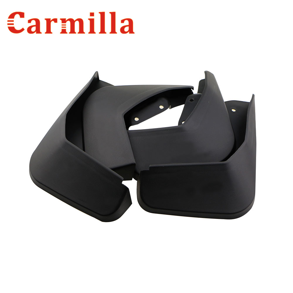 Carmilla 4pcs set reflective type 4 wheels soft abs plastic mudflaps mudguard for ford ecosport