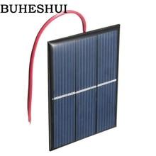 BUHESHUI 0.65W 1.5V Mini Solar Cell Polycrystalline DIY Solar Panel Toy 80*60MM+Cable Epoxy Study 100pcs Wholesale Free Shipping