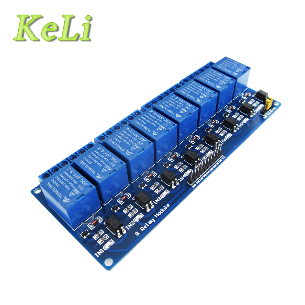 1pcs/lot With optocoupler 8 channel 8-channel relay modules relay control panel PLC relay 5V module 5v 2 channel ir relay shield expansion board module for arduino with infrared remote controller