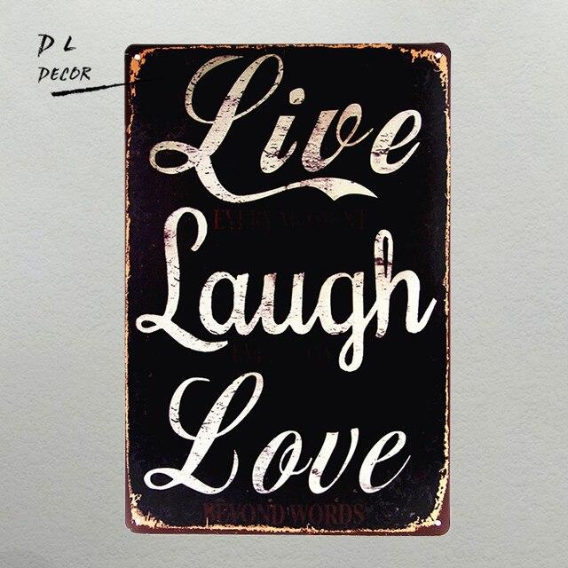Dl Retro Vintage Garage Live Laugh Love Humour Decorative Plaque Metal Sign Gift