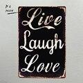 Dl-retro vintage garagem risada ao vivo amor humor placa decorativa sinal de metal presente