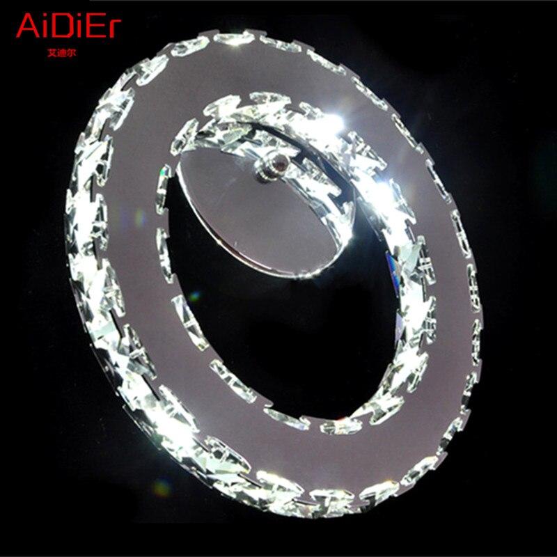 Personnalité créatrice LED crystal Wall Lampes bref séjour roomled cristal cercle d'éclairage Applique Murale atmosphère Haut de Gamme
