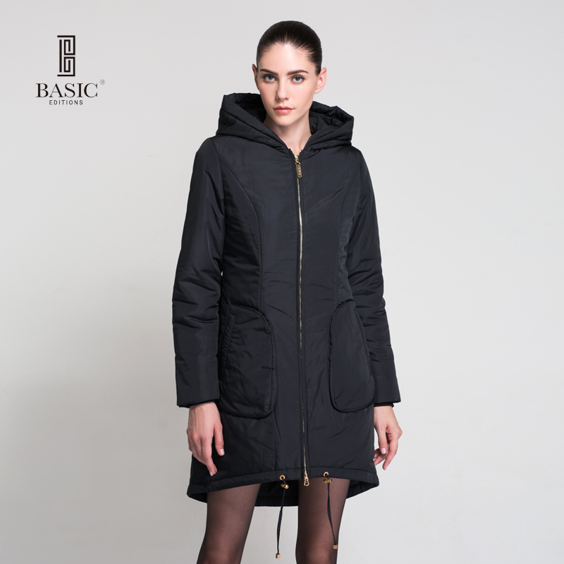 BASIC EDITIONS Fall Winter Fashion Cotton Parka Warm Hooded Long Elegant Jacket - WM205 туфли basic editions туфли