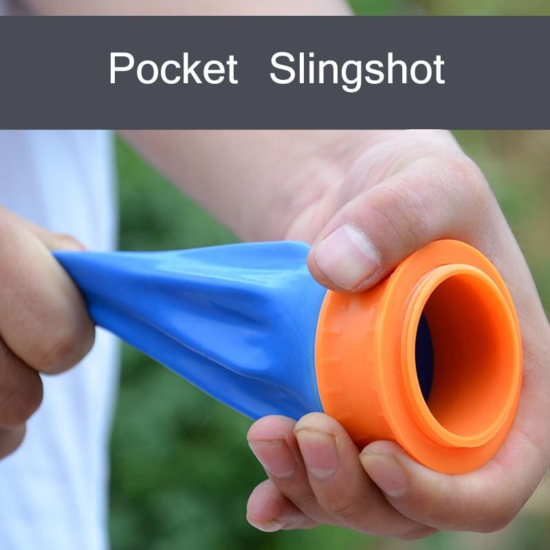 New Style Powerful Pocket Slingshot Outdoor Funny Games Catapult High-carbon Steel Balls Slingshots Toys For Children Gift